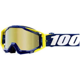 100% Racecraft Anti Fog Mirror Goggles blå